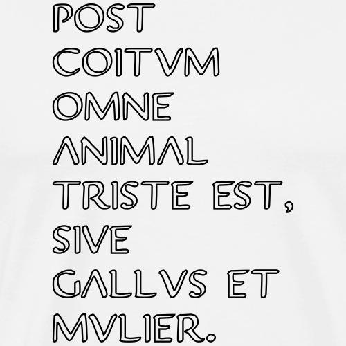 triste post coitum iii - Männer Premium T-Shirt