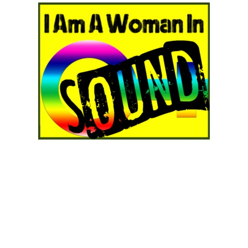 I am a woman in sound - rainbow - Men's Premium T-Shirt