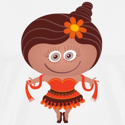 Pretty girl wearing a Halloween dancer costume - Men's Premium T-Shirt