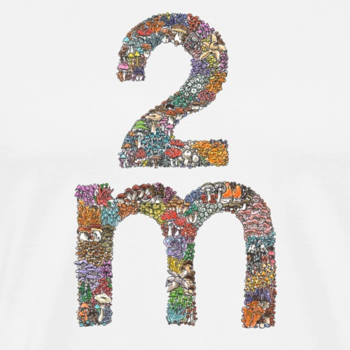 2 m / Corona-Abstand / Pilze - Männer Premium T-Shirt
