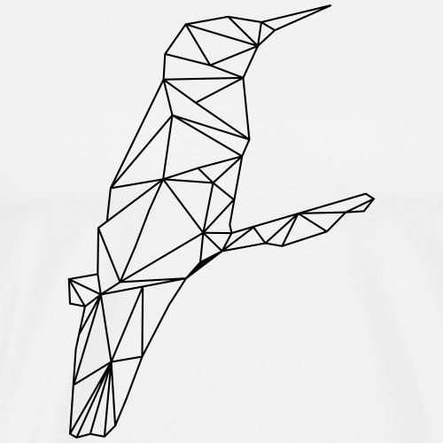 Low Poly Art - Kolibri - Männer Premium T-Shirt