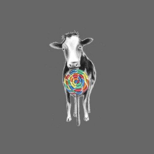 Cow eating Lolli - Men's Premium T-Shirt