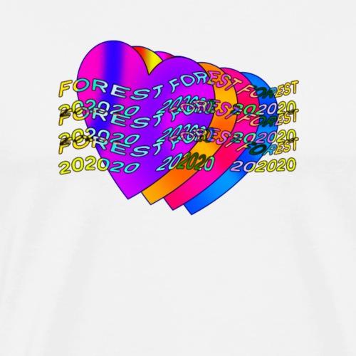 Forest 20 Hearts - Men's Premium T-Shirt