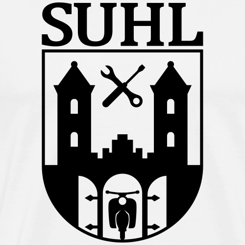 Simson Suhl coat of arms with text - Men's Premium T-Shirt