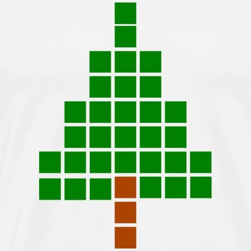 Pixel Tannenbaum - Männer Premium T-Shirt