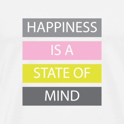 Happiness - Maglietta Premium da uomo