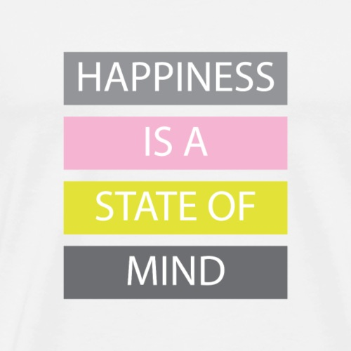 Happiness - Herre premium T-shirt