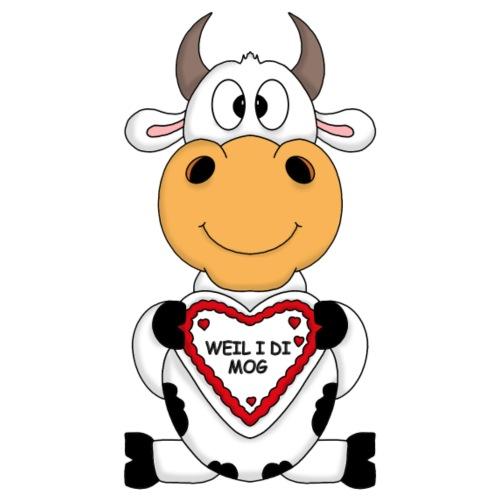 Oktoberfest Kuh mit Herzchen - WEIL I DI MOG - Männer Premium T-Shirt