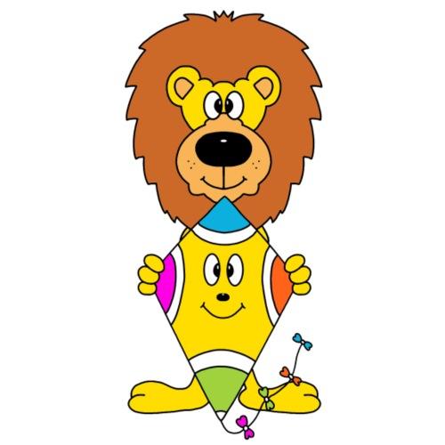 Niedlicher Löwe mit Drachen - Männer Premium T-Shirt