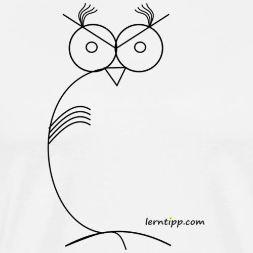 Eule abstrakt / owl abstract with logo - Männer Premium T-Shirt