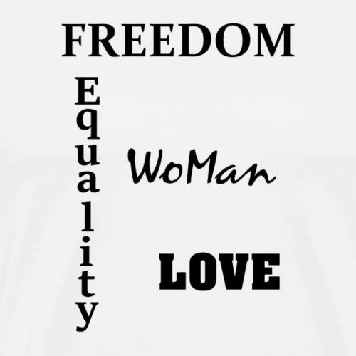 Freedom and Love - Männer Premium T-Shirt