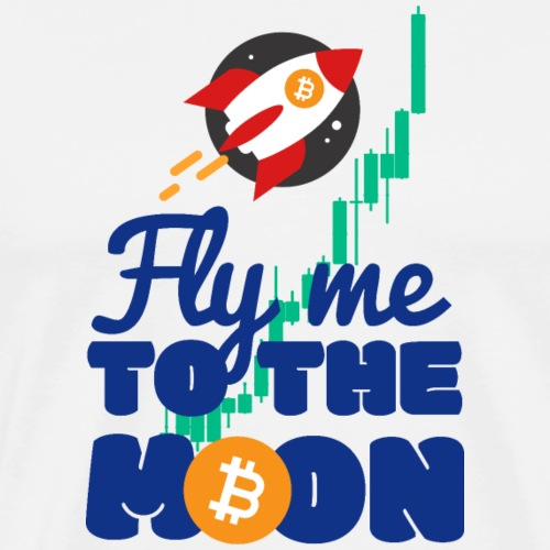 BITCOIN BTC FLY ME TO THE MOON - Men's Premium T-Shirt