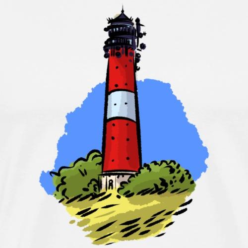 Leuchtturm Hörnum Sylt - Männer Premium T-Shirt