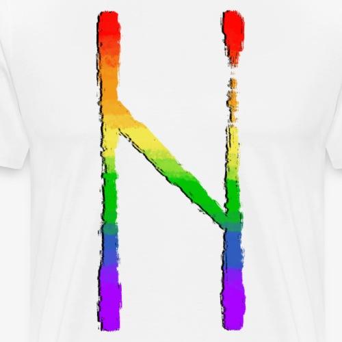 Hagalaz #9 Pride By TheRawburt - Premium-T-shirt herr