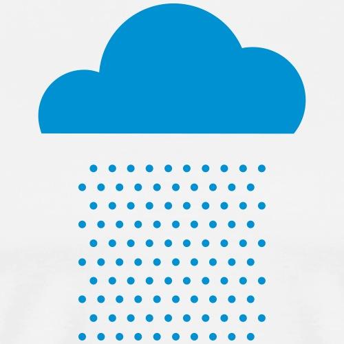 Wir lieben Wetter! Regen, Wolke, Regentropfen, - Männer Premium T-Shirt