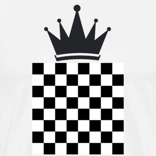 Schach König - Männer Premium T-Shirt