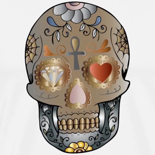 mandala tête de mort - T-shirt Premium Homme