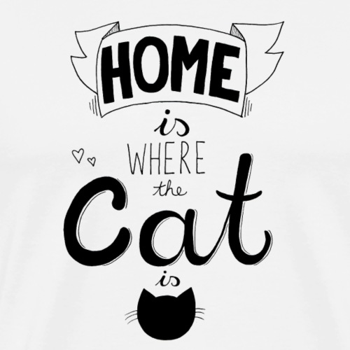 Luloveshandmade - Home is where the cat is - Männer Premium T-Shirt