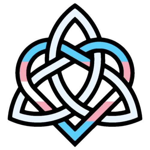 Celtic Knot - Transgender Heart - Men's Premium T-Shirt