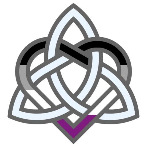 Celtic Knot - Asexual Heart - Men's Premium T-Shirt