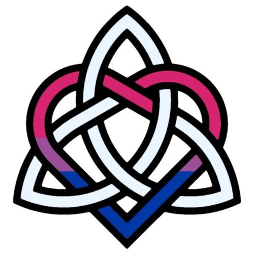 Celtic Knot - Bisexual Heart - Men's Premium T-Shirt