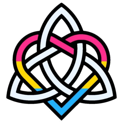 Celtic Knot - Pansexual Heart - Men's Premium T-Shirt