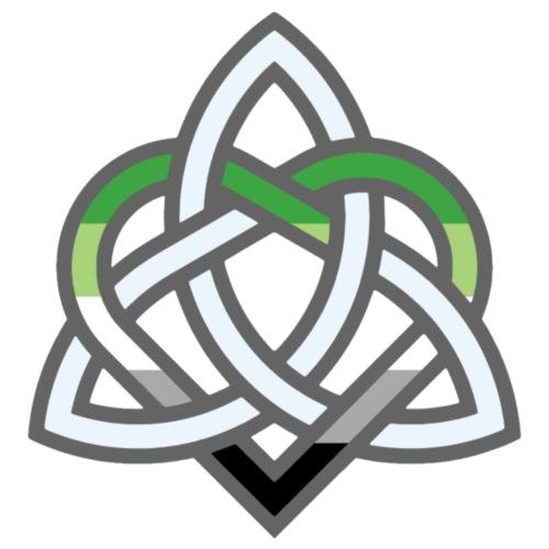 Celtic Knot - Aromantic Heart - Men's Premium T-Shirt
