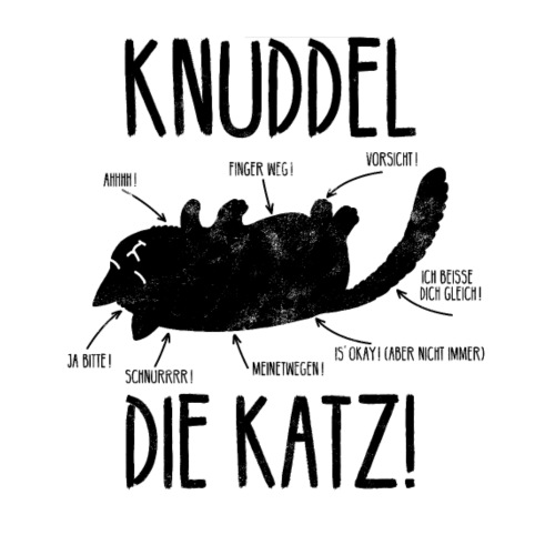 Lustige freche Katze Main Coon Geschenk - Männer Premium T-Shirt