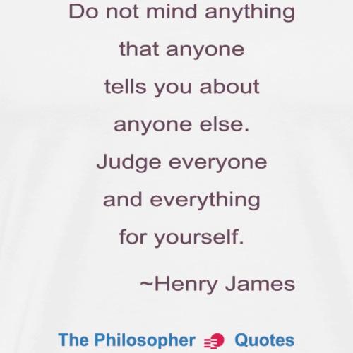 Henry James Judging Philosopher b - Mannen Premium T-shirt