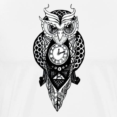 Clock Owl - Men's Premium T-Shirt