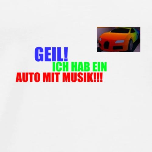 Auto mit Musik - Männer Premium T-Shirt