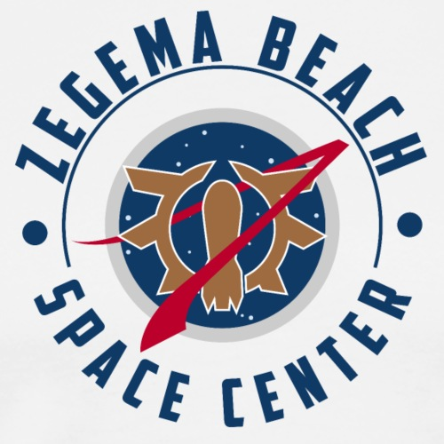 Zegema Beach Space Center - T-shirt Premium Homme