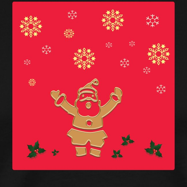 Santa Claus on a red background and snowflake