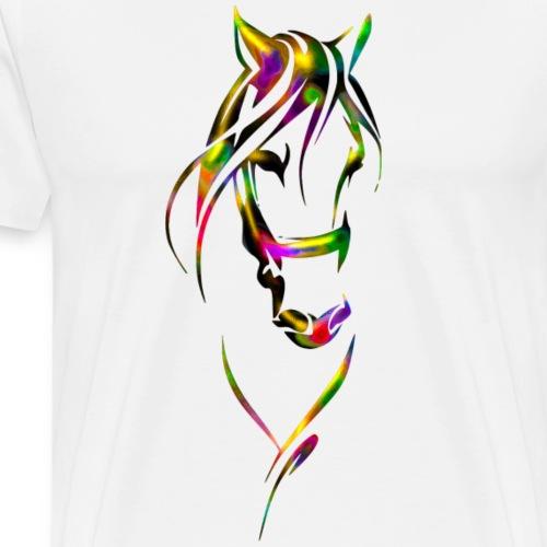 Horse Color - T-shirt Premium Homme