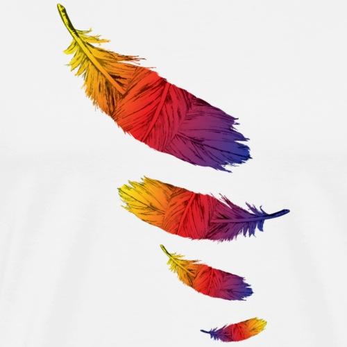 Color Feather Leaf - Men's Premium T-Shirt