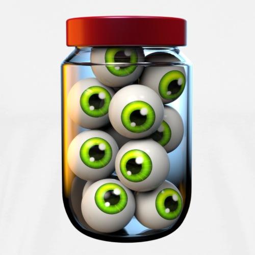 Halloween Jar of Eyeballs - Men's Premium T-Shirt