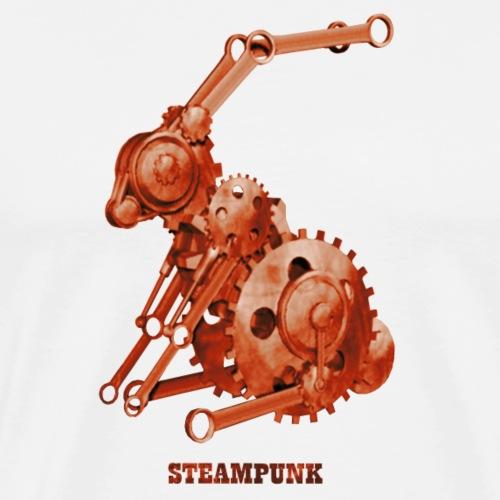 Steampunk Hase Retro Futurismus - Männer Premium T-Shirt