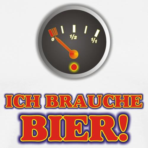 ICH BRAUCHE BIER - Männer Premium T-Shirt
