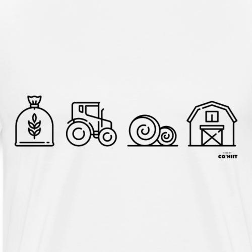 À la ferme (noir) - T-shirt Premium Homme