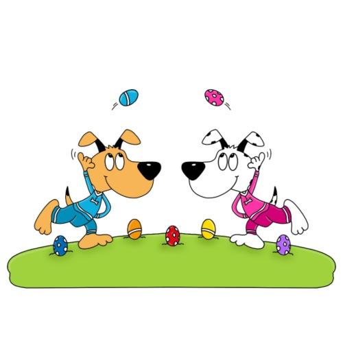 Hunde - Osterfest - Ostern - Ostereier - Männer Premium T-Shirt