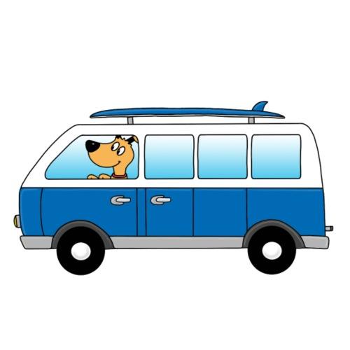 Hund - Surfer Bus - Bus - Wohnmobil - Ferien - Männer Premium T-Shirt