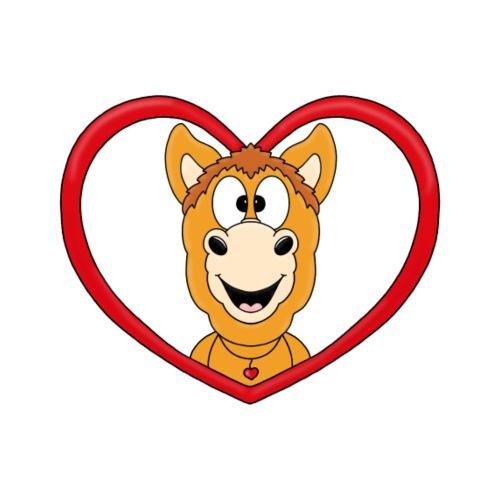 Lustiges Pferd - Pony - Herz - Liebe - Love - Fun - Männer Premium T-Shirt