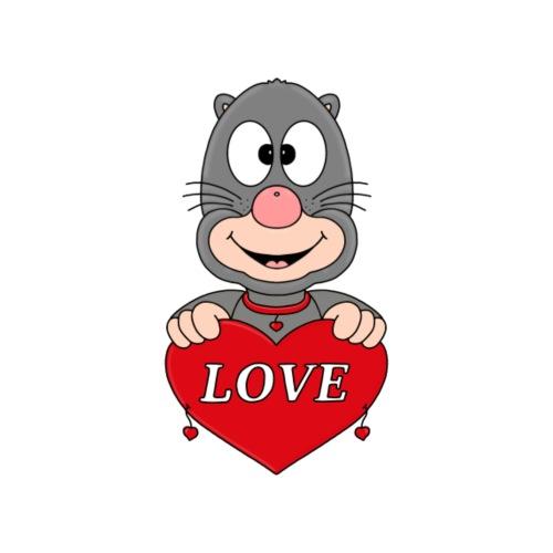 Lustiger Maulwurf - Herz - Liebe - Love - Fun - Männer Premium T-Shirt
