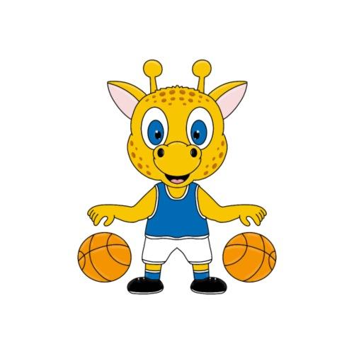 Lustige Giraffe - Basketball - Sport - Tier - Fun - Männer Premium T-Shirt