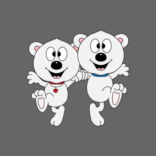 Lustige Eisbären - Tanzen - Tier - Kind - Baby - Männer Premium T-Shirt
