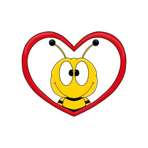 Lustige Biene - Herz - Liebe - Love - Fun - Männer Premium T-Shirt