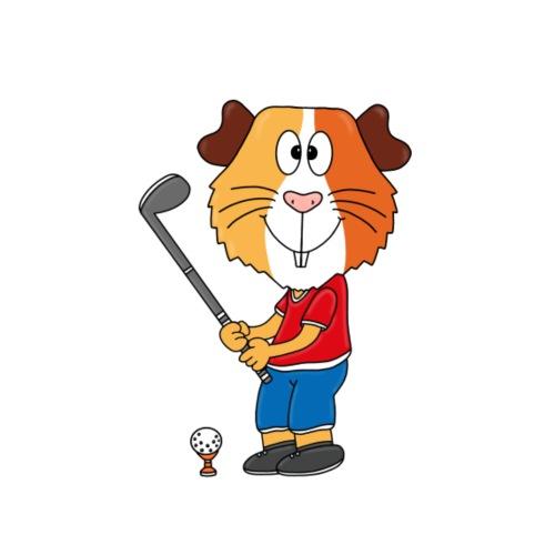 Lustiges Meerschweinchen - Golf - Sport - Fun - Männer Premium T-Shirt