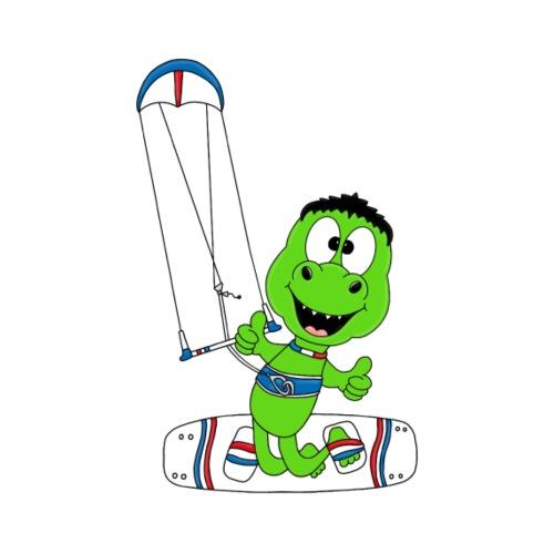 Lustiger Dinosaurier - Kite - Kitesurfer - Sport - Männer Premium T-Shirt