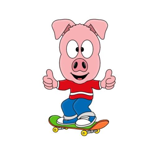 Lustiges Schwein - Skateboard - Sport - Fun - Männer Premium T-Shirt