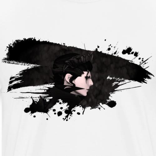 Paint Splatter Demon Queen - Herre premium T-shirt